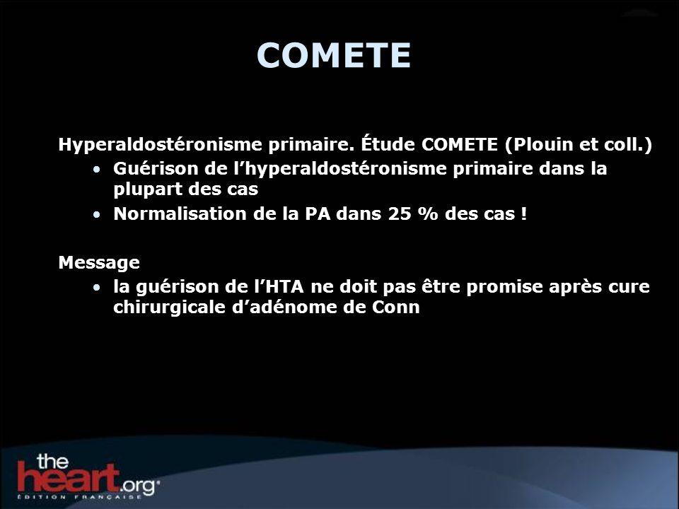 COMETE Hyperaldostéronisme primaire. Étude COMETE (Plouin et coll.)