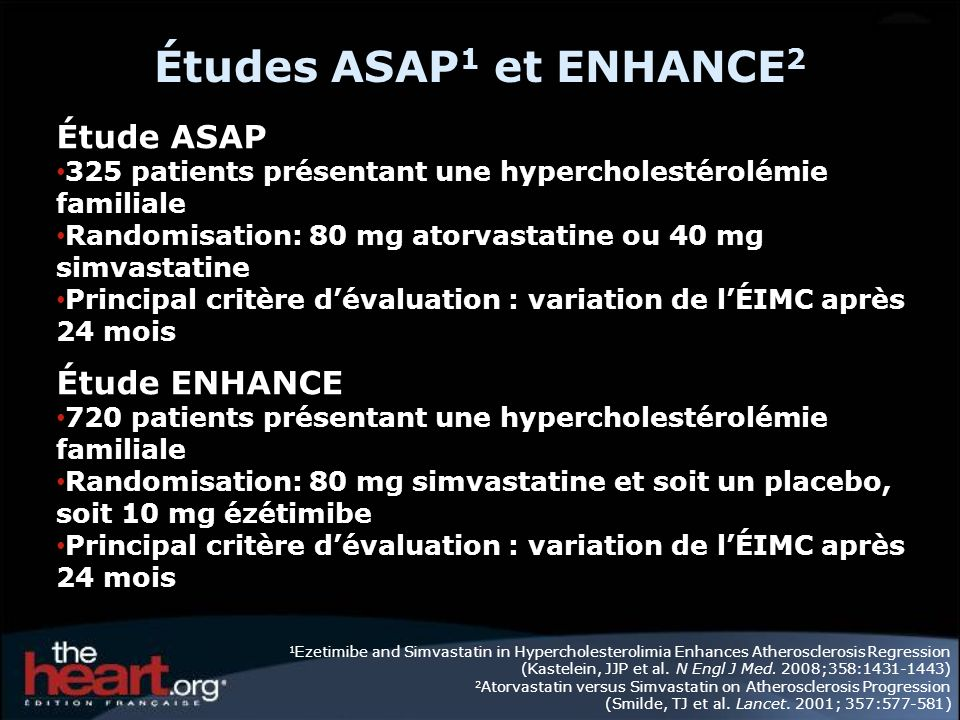 Études ASAP1 et ENHANCE2 Étude ASAP Étude ENHANCE