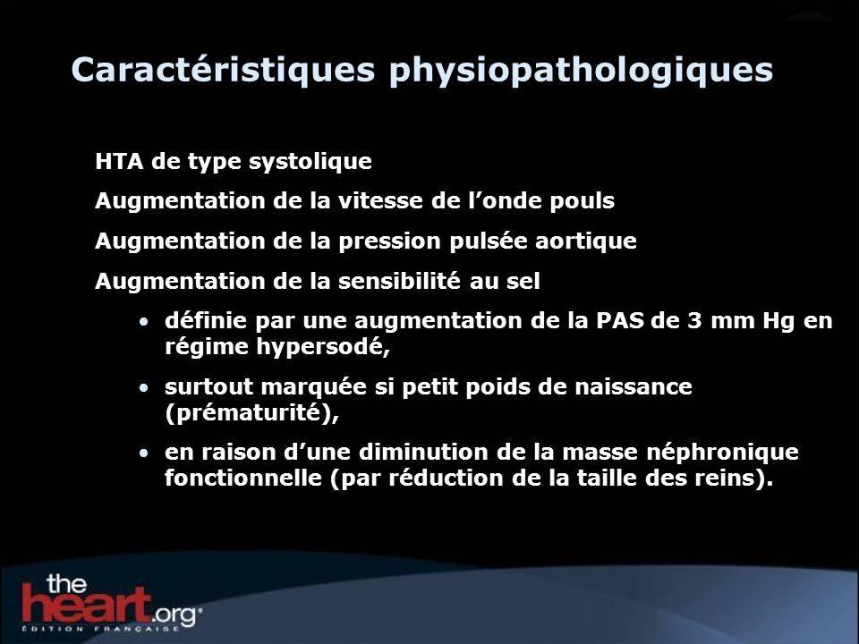Caractéristiques physiopathologiques