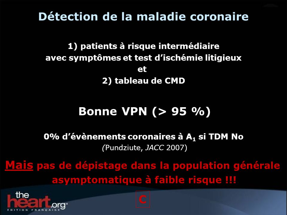 Détection de la maladie coronaire
