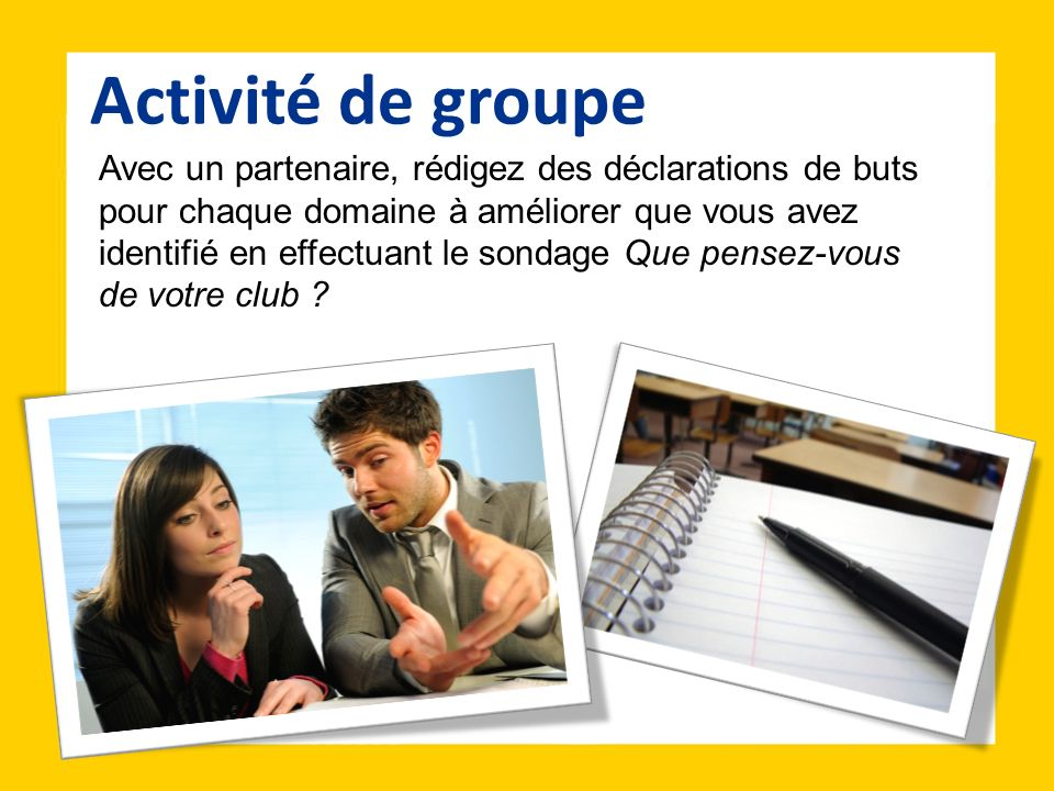 Activité de groupe
