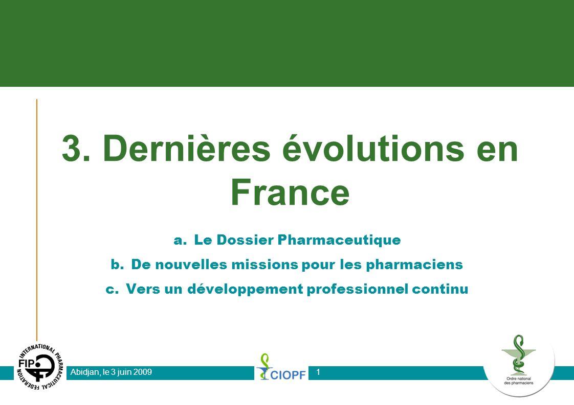 3. Dernières évolutions en France