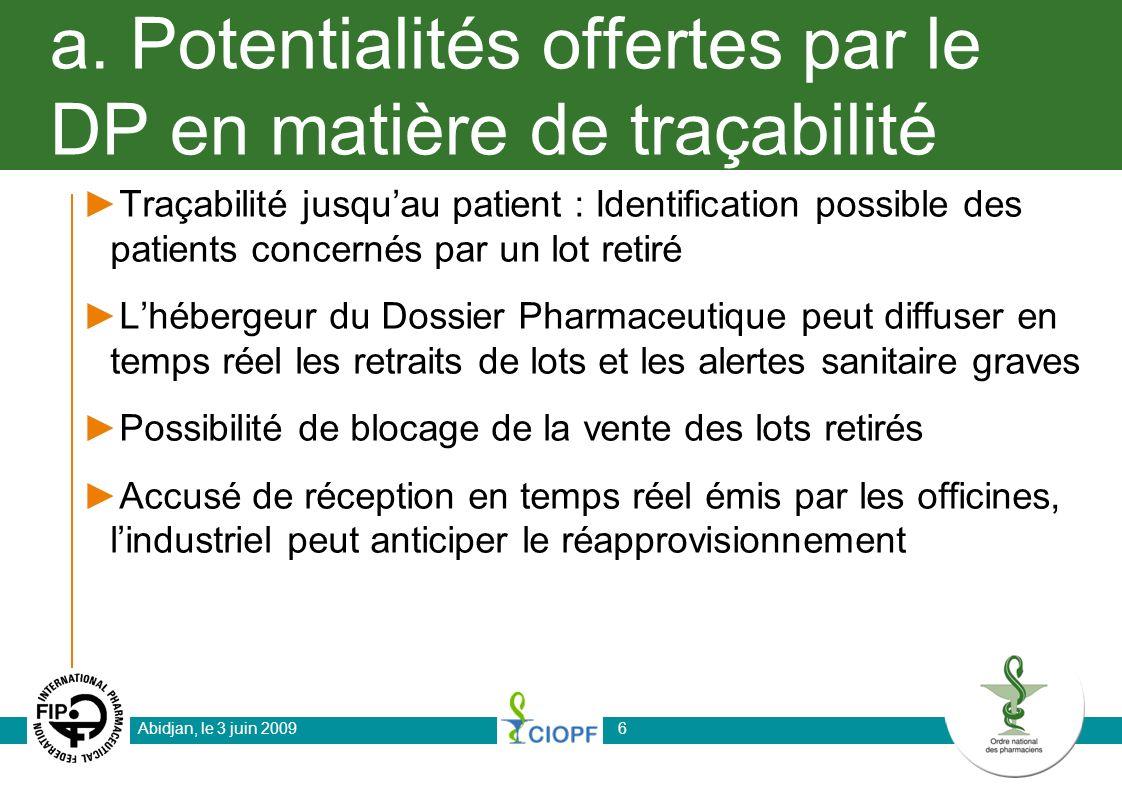 a. Potentialités offertes par le DP en matière de traçabilité