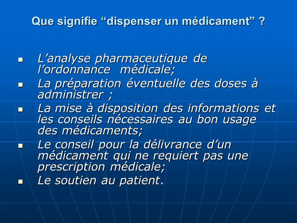 Que signifie dispenser un médicament