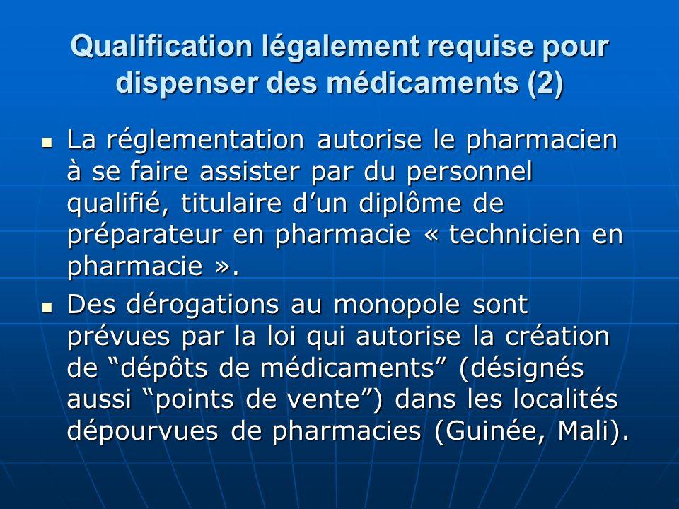 Qualification légalement requise pour dispenser des médicaments (2)