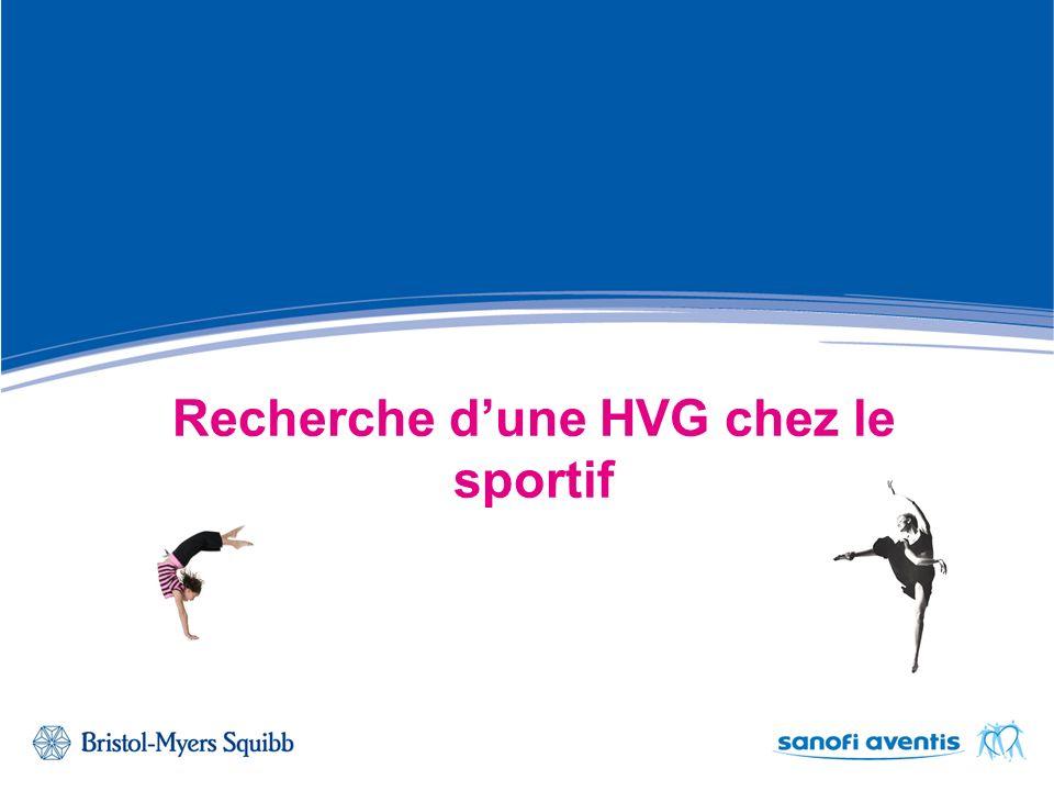 Recherche d'une HVG chez le sportif