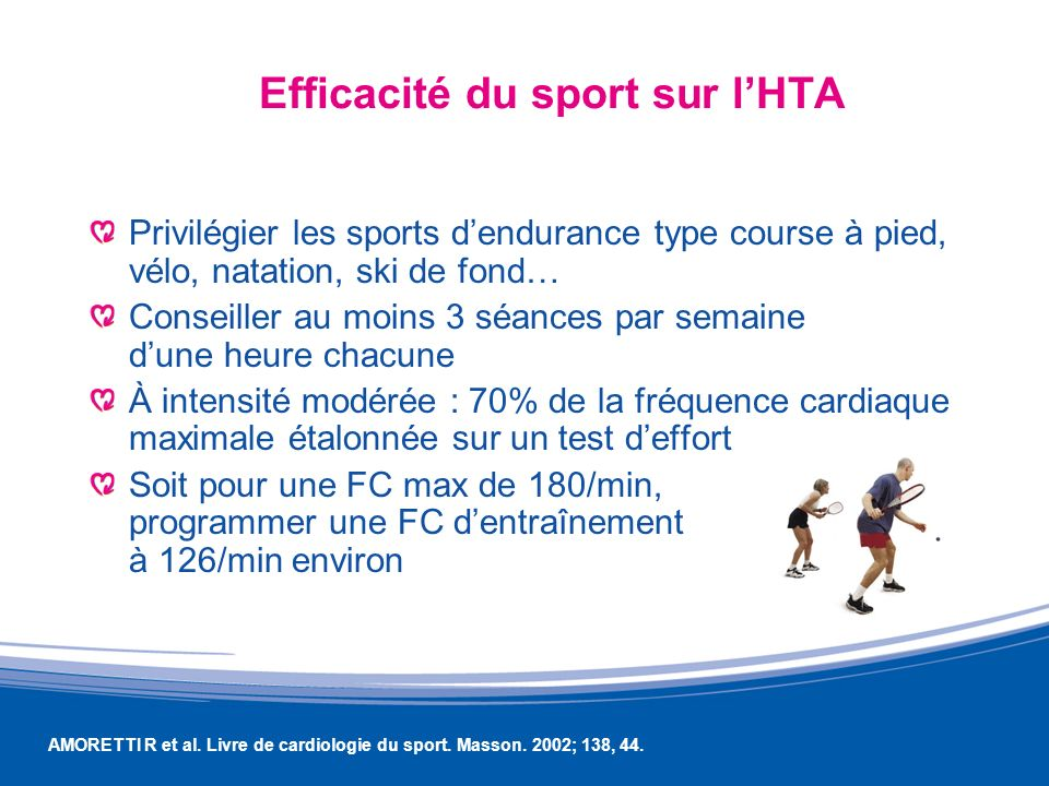 Efficacité du sport sur l'HTA