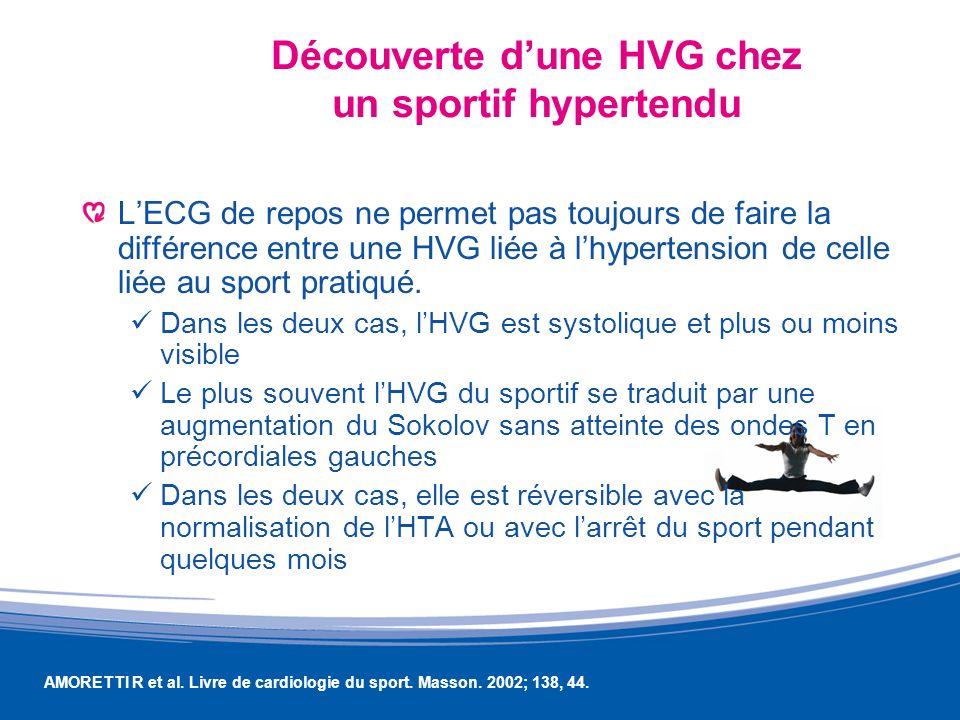 Découverte d'une HVG chez un sportif hypertendu