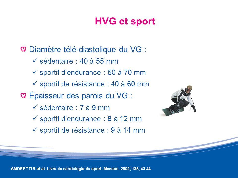 HVG et sport Diamètre télé-diastolique du VG :