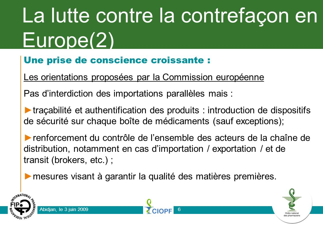 La lutte contre la contrefaçon en Europe(2)