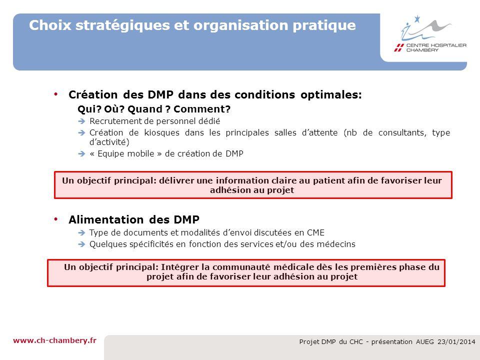 Choix stratégiques et organisation pratique