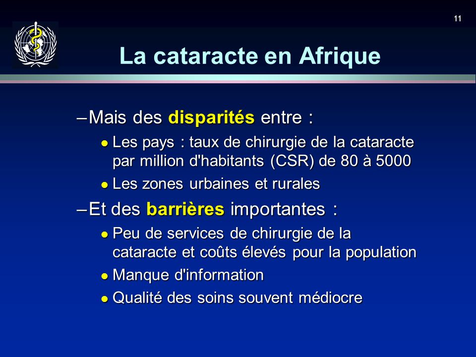 La cataracte en Afrique
