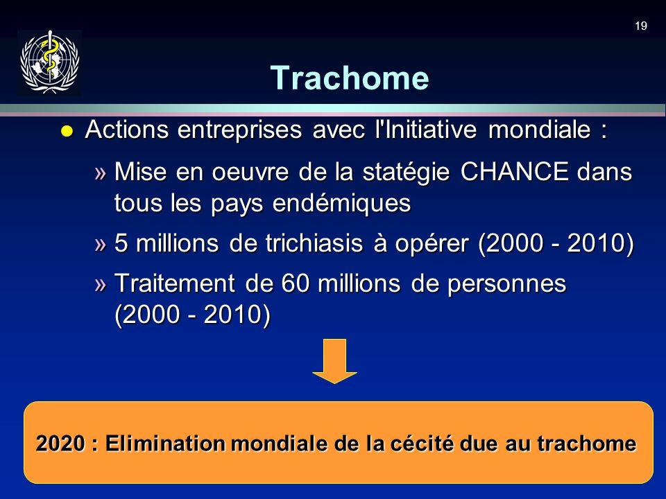 Trachome Actions entreprises avec l Initiative mondiale :