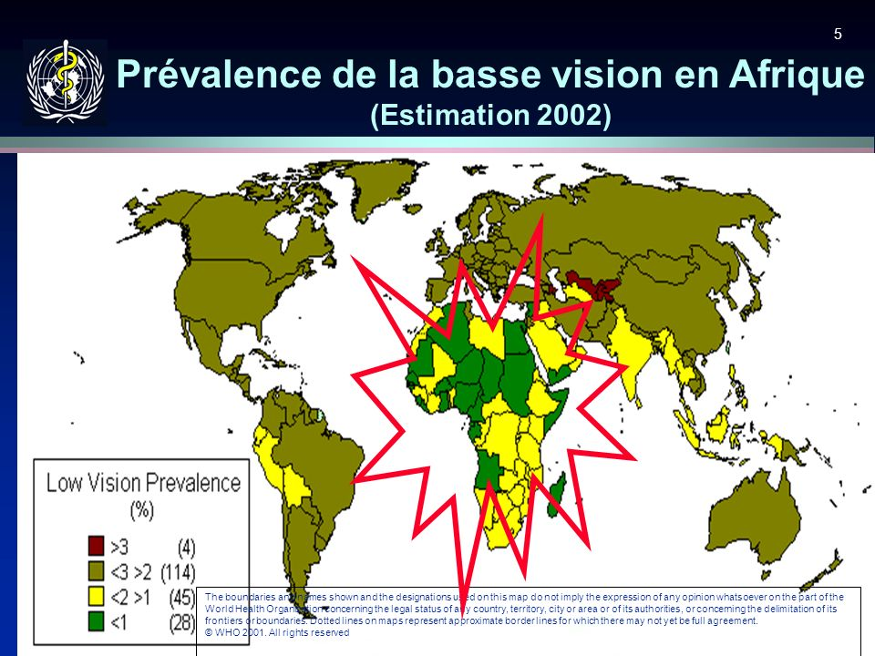 Prévalence de la basse vision en Afrique