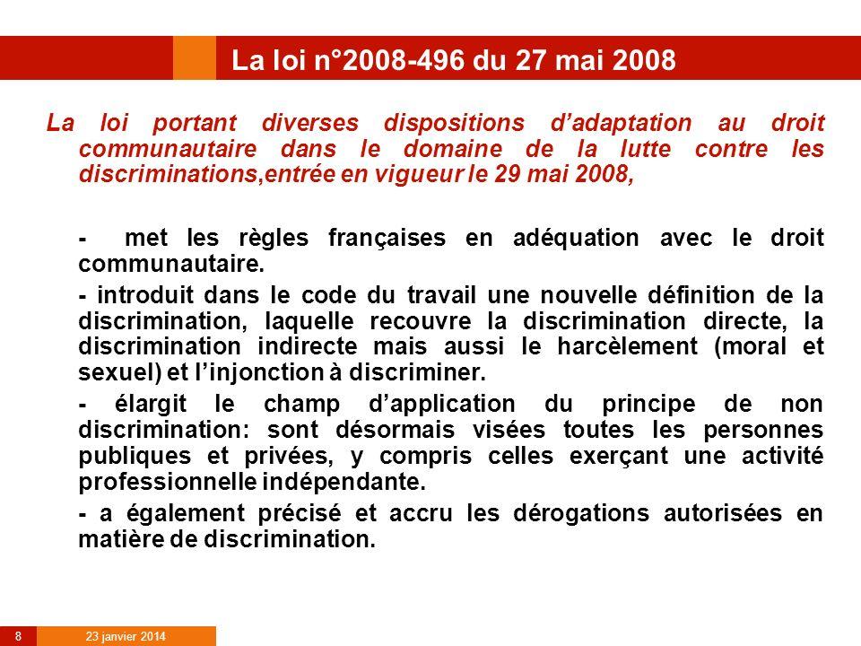 La loi n°2008-496 du 27 mai 2008