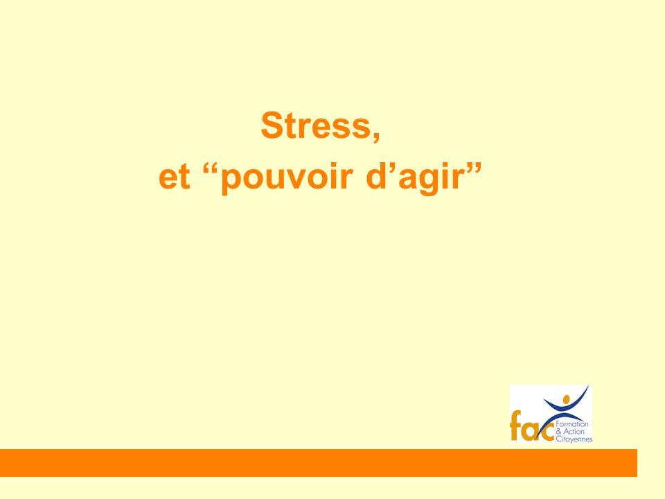 Stress, et pouvoir d'agir