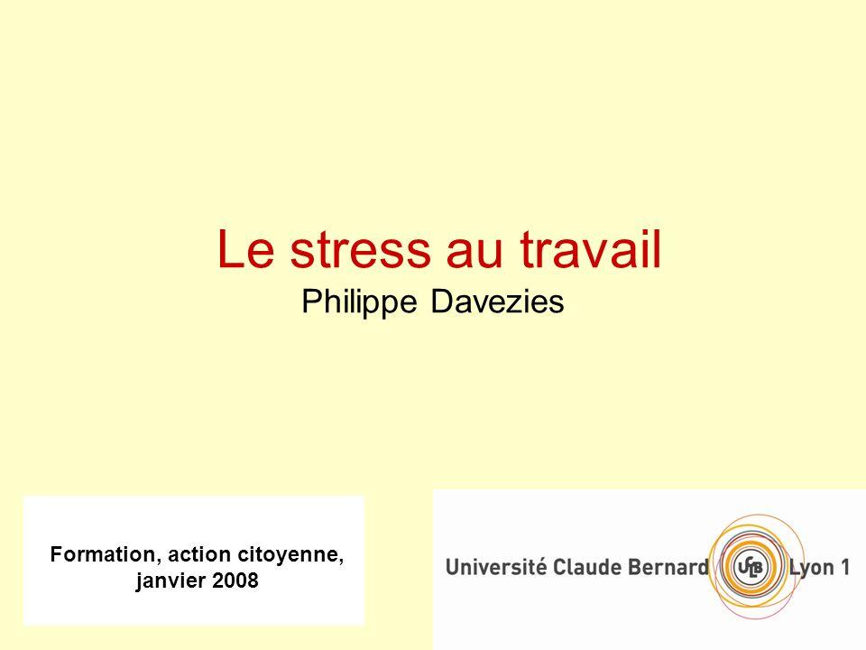 Le stress au travail Philippe Davezies