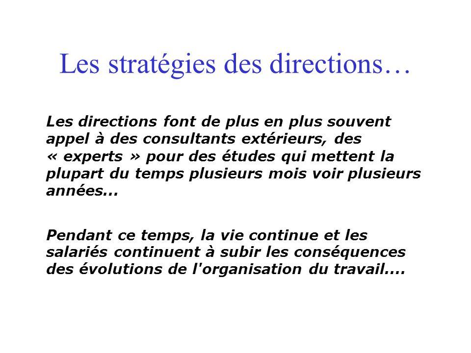 Les stratégies des directions…