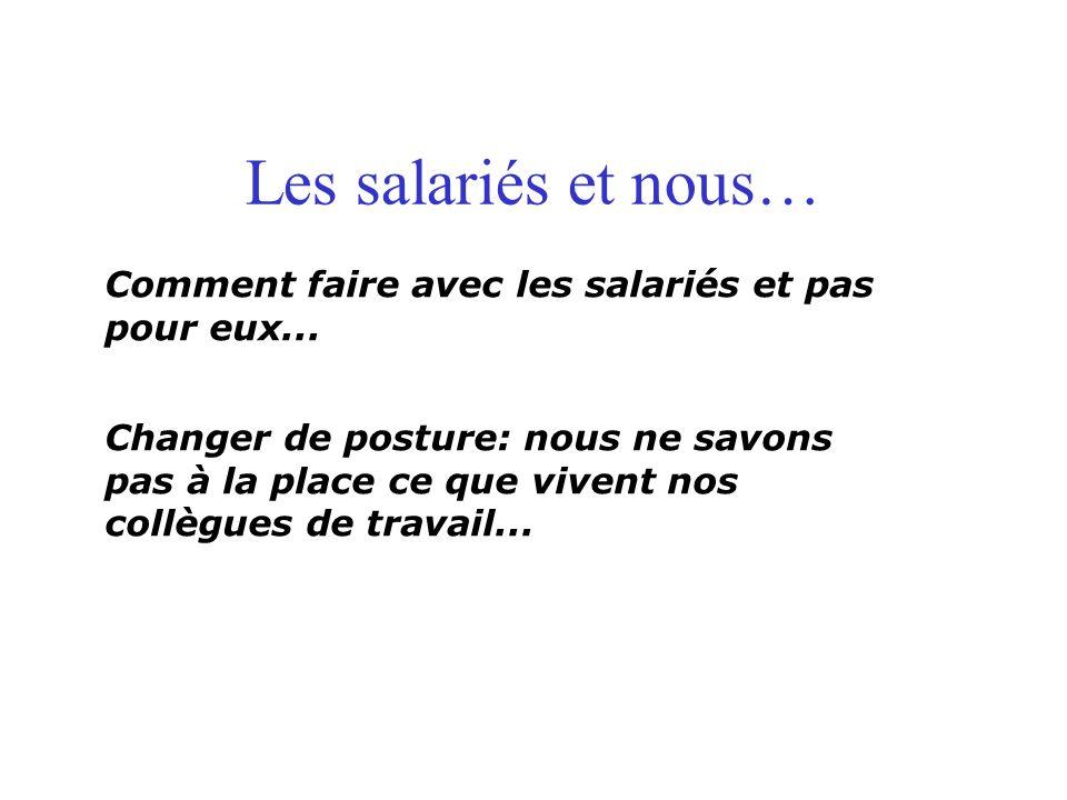 Les salariés et nous… Comment faire avec les salariés et pas pour eux...