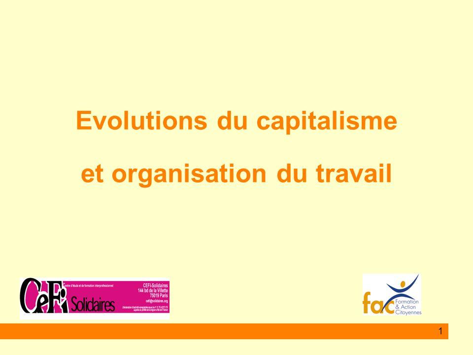Evolutions du capitalisme et organisation du travail