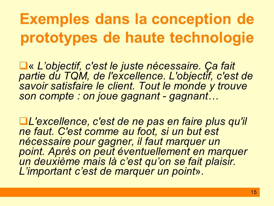 Exemples dans la conception de prototypes de haute technologie
