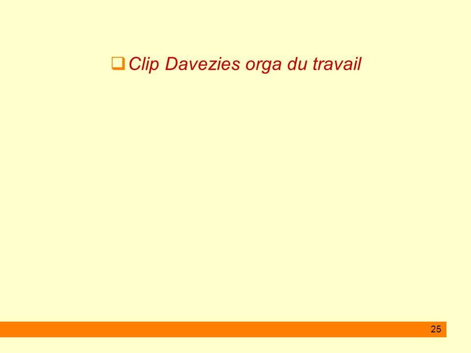 Clip Davezies orga du travail