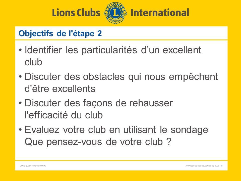 Identifier les particularités d'un excellent club