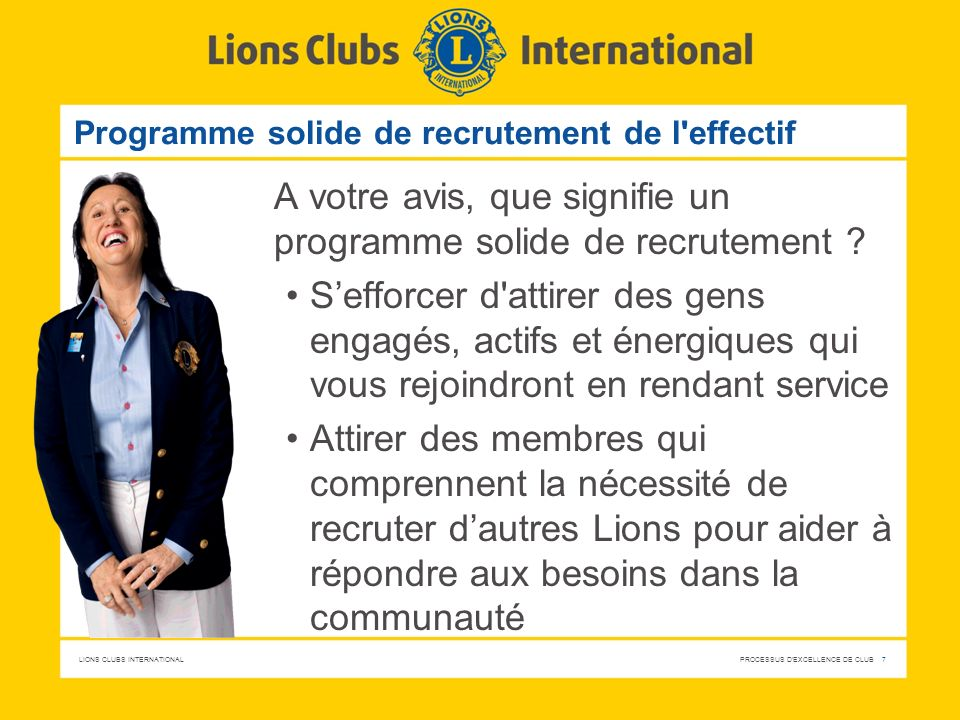 Programme solide de recrutement de l effectif