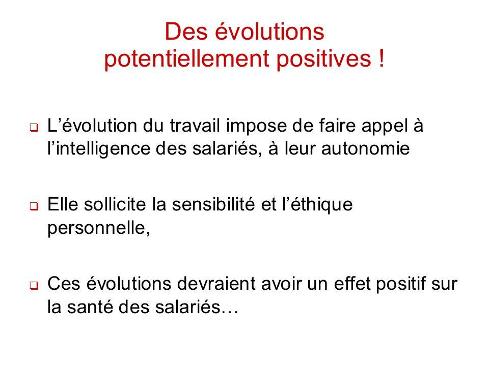 Des évolutions potentiellement positives !