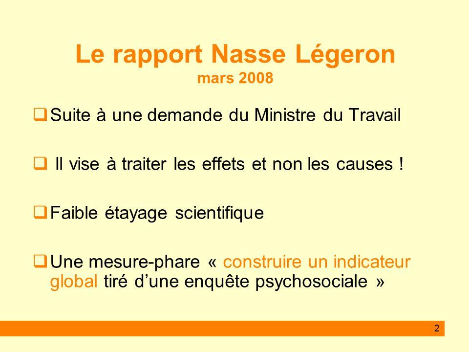 Le rapport Nasse Légeron mars 2008