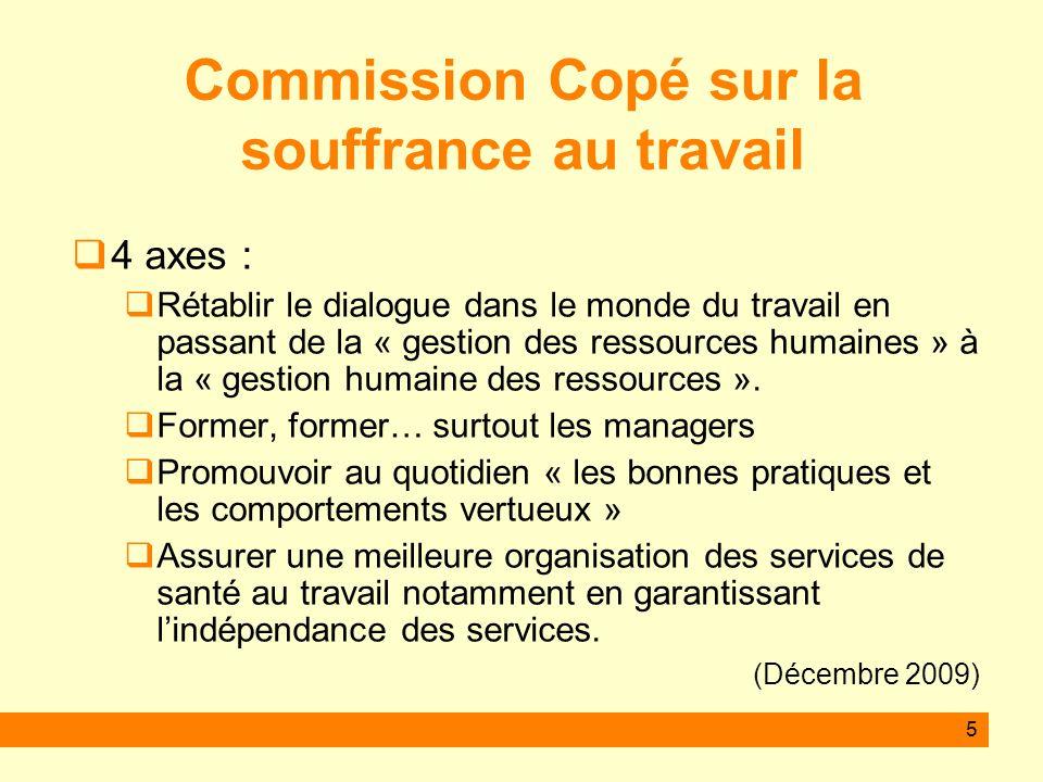 Commission Copé sur la souffrance au travail