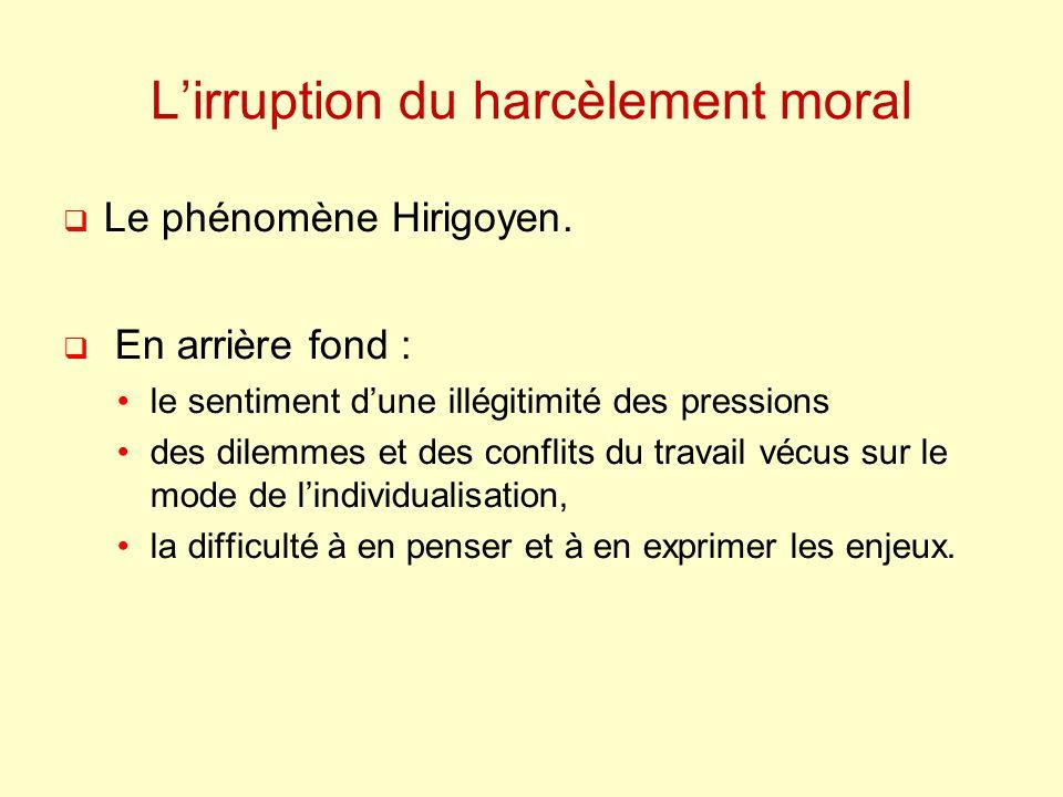 L'irruption du harcèlement moral