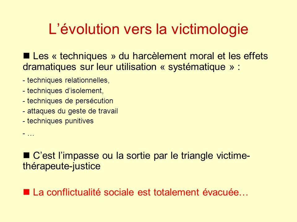 L'évolution vers la victimologie