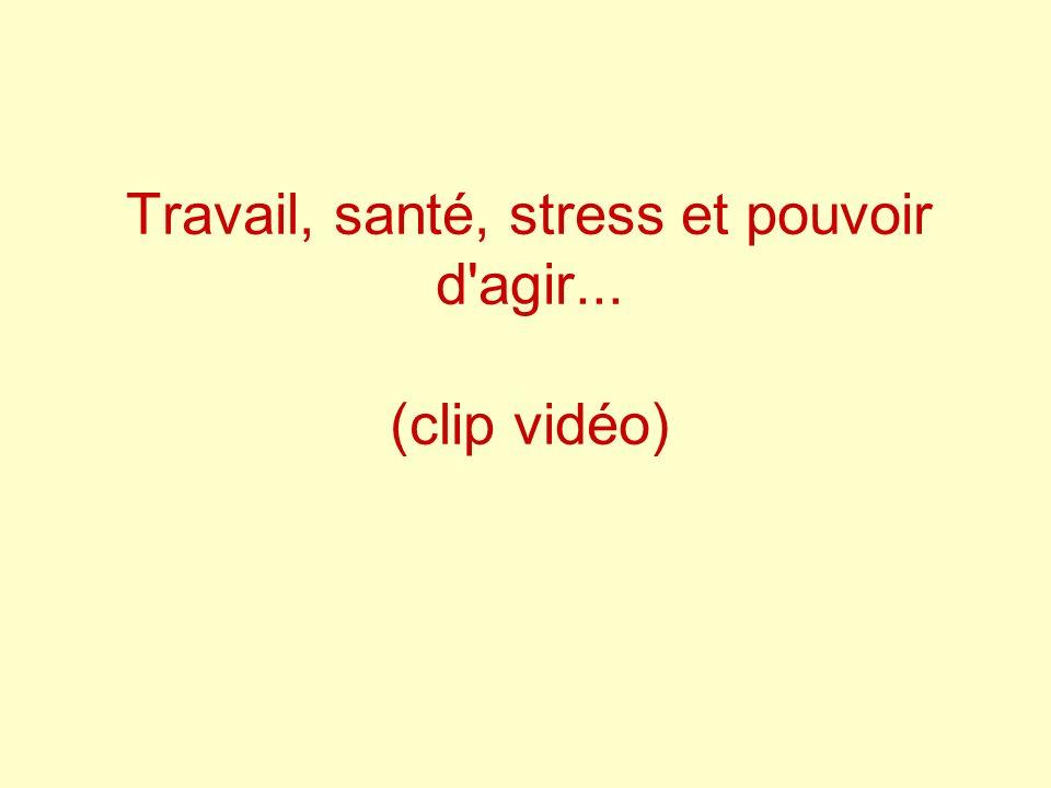 Travail, santé, stress et pouvoir d agir... (clip vidéo)