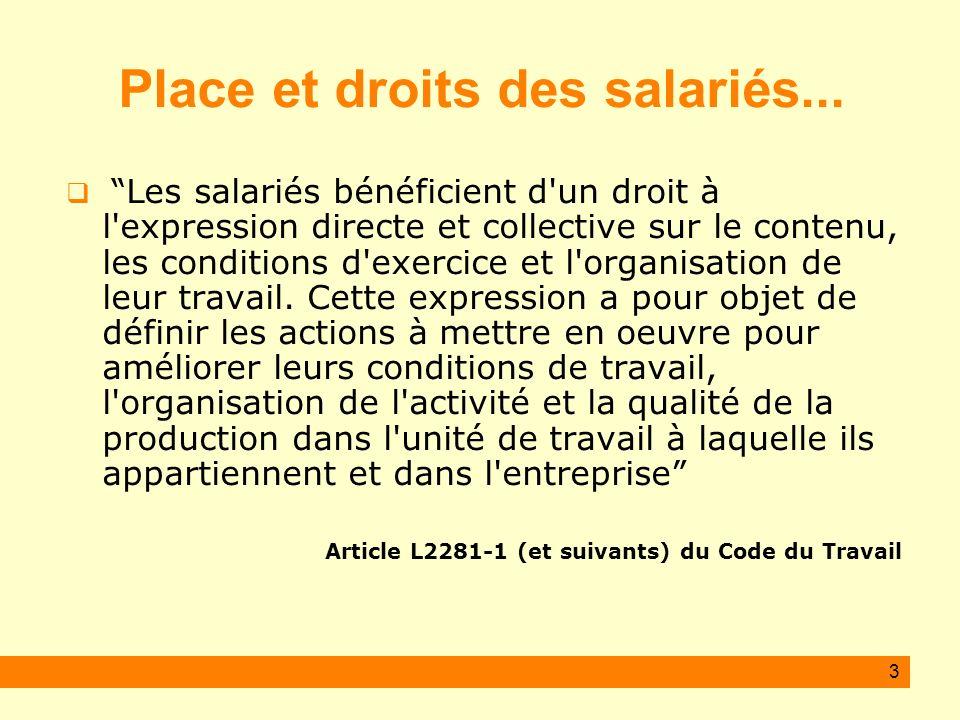 Place et droits des salariés...