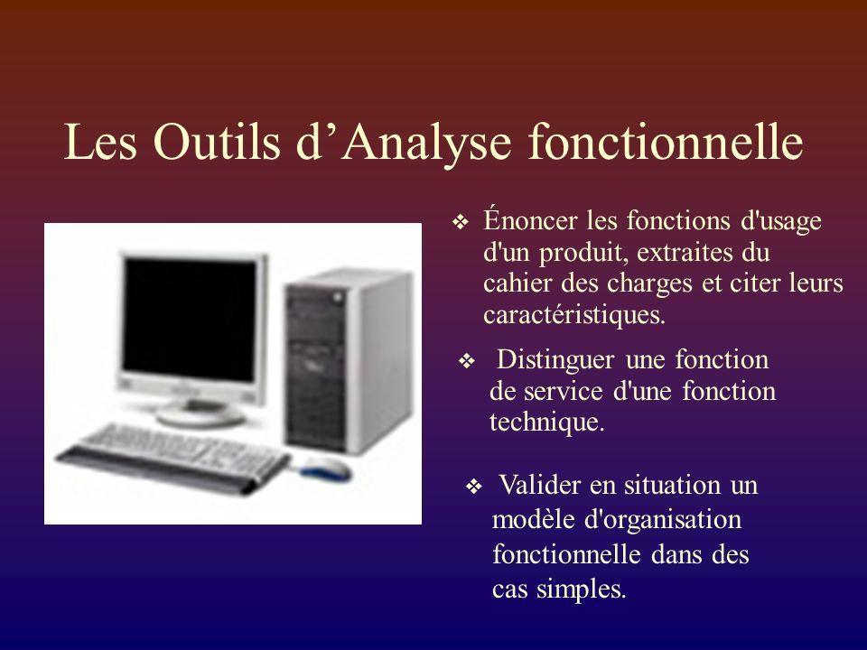 Les Outils d'Analyse fonctionnelle