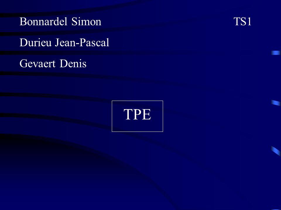 Bonnardel Simon TS1 Durieu Jean-Pascal. Gevaert Denis.