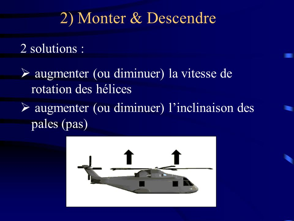 2) Monter & Descendre 2 solutions :