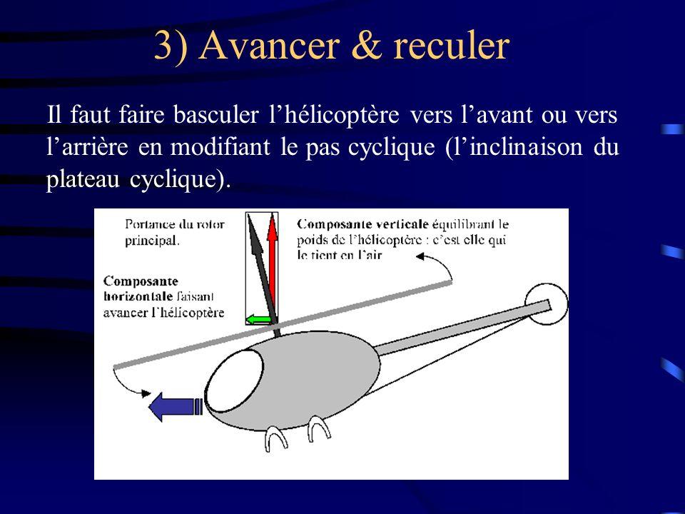 3) Avancer & reculer