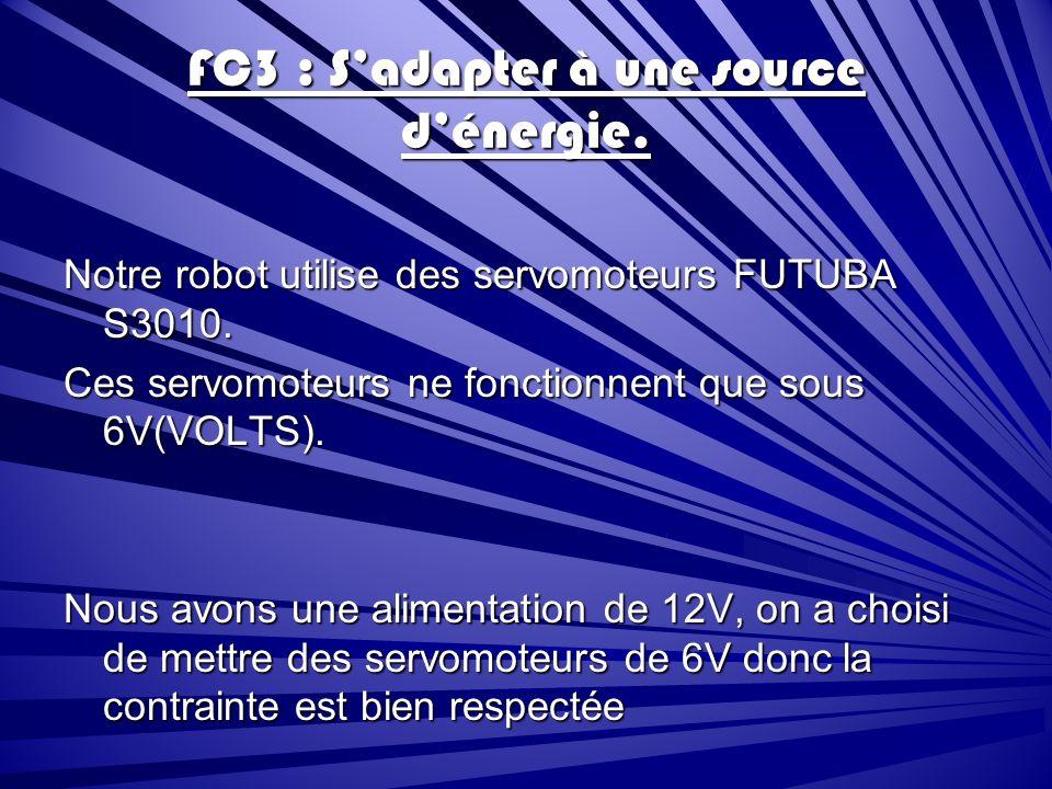 FC3 : S'adapter à une source d'énergie.