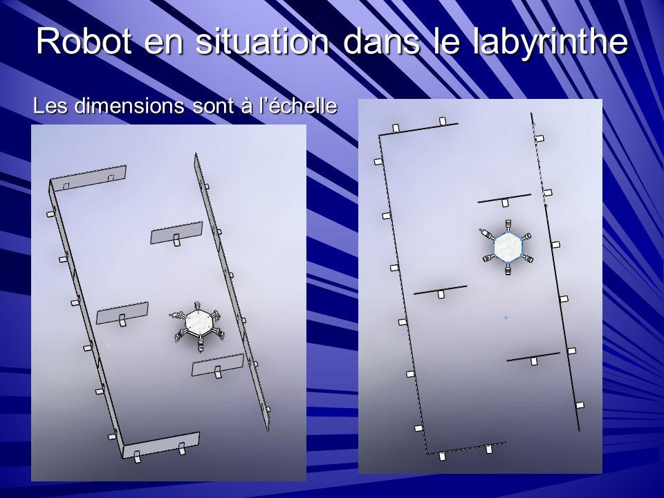 Robot en situation dans le labyrinthe