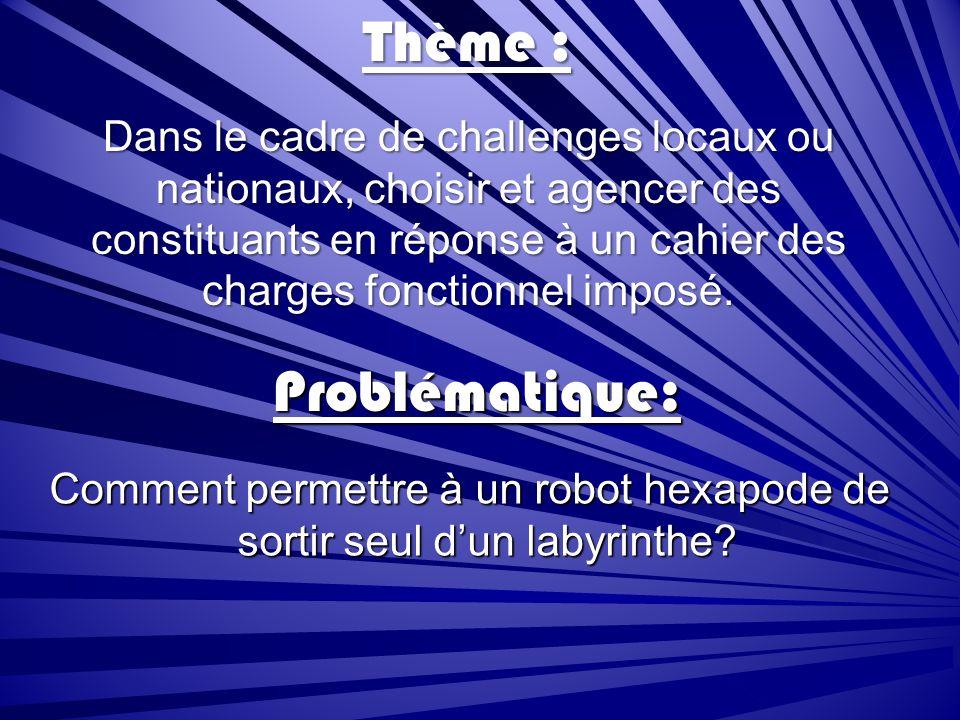 Comment permettre à un robot hexapode de sortir seul d'un labyrinthe
