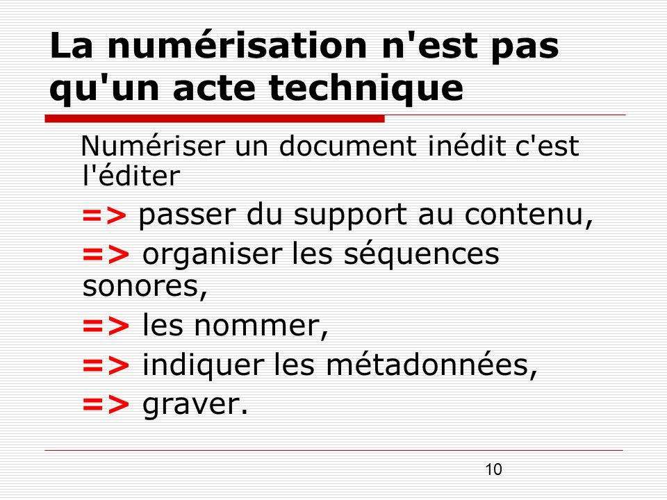 La numérisation n est pas qu un acte technique