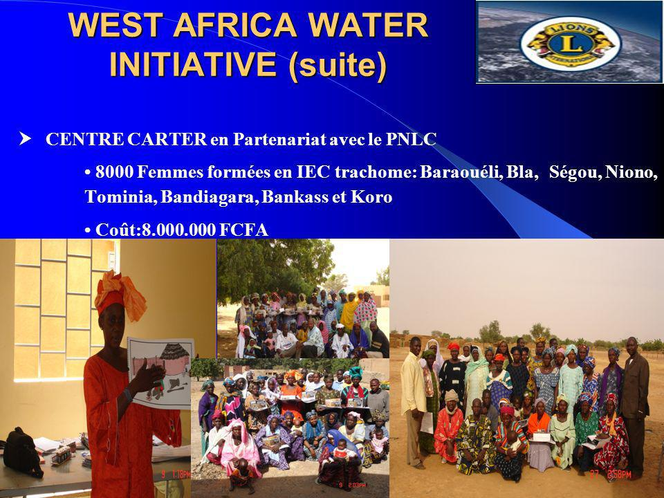 WEST AFRICA WATER INITIATIVE (suite)