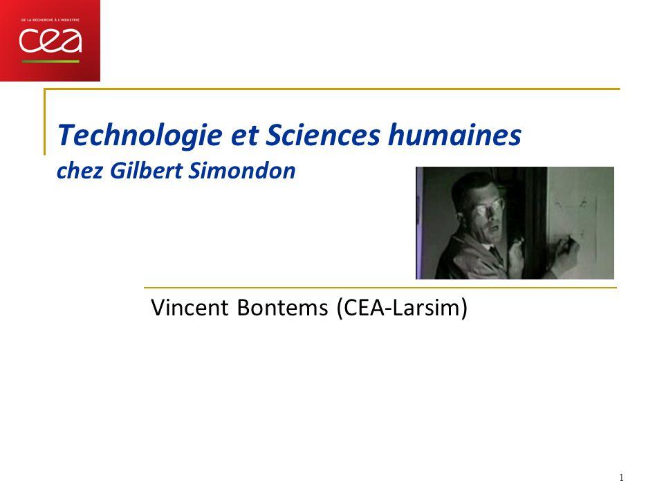 Technologie et Sciences humaines chez Gilbert Simondon