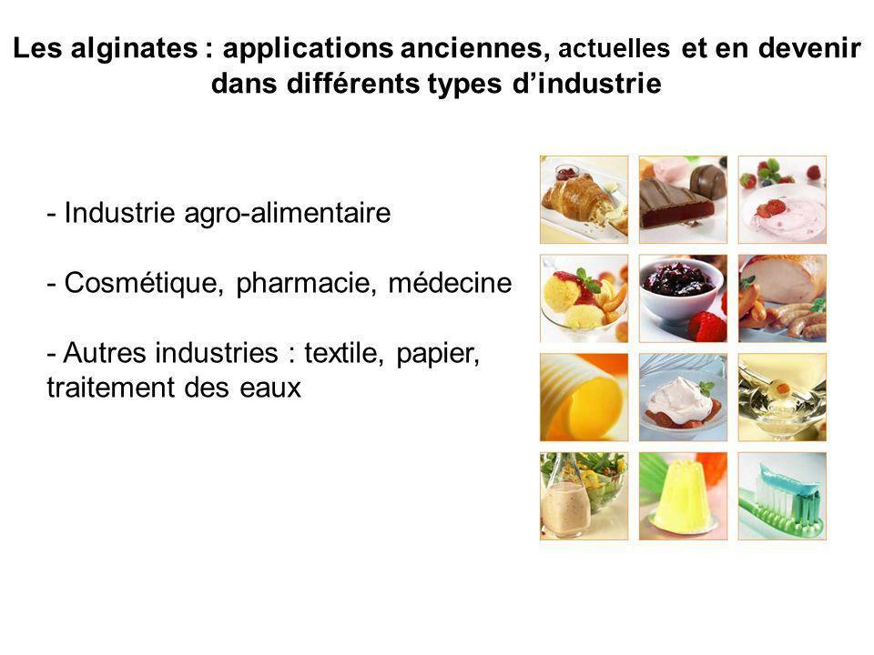 Les alginates : applications anciennes, actuelles et en devenir