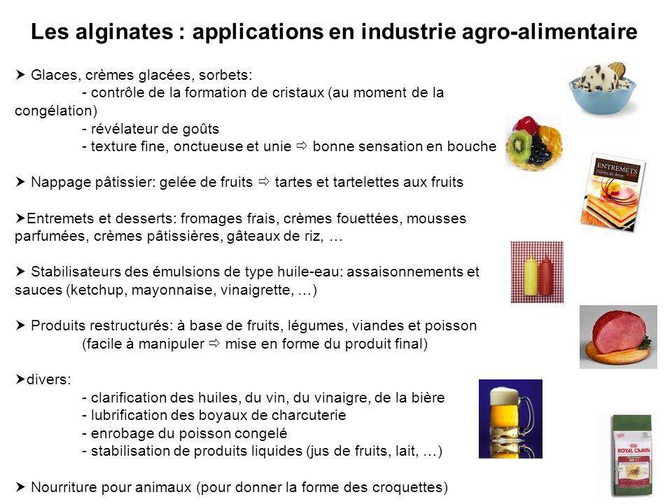 Les alginates : applications en industrie agro-alimentaire