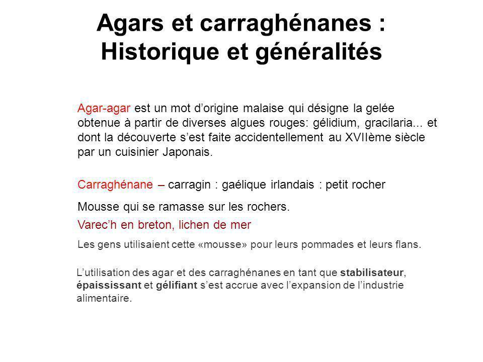Agars et carraghénanes : Historique et généralités