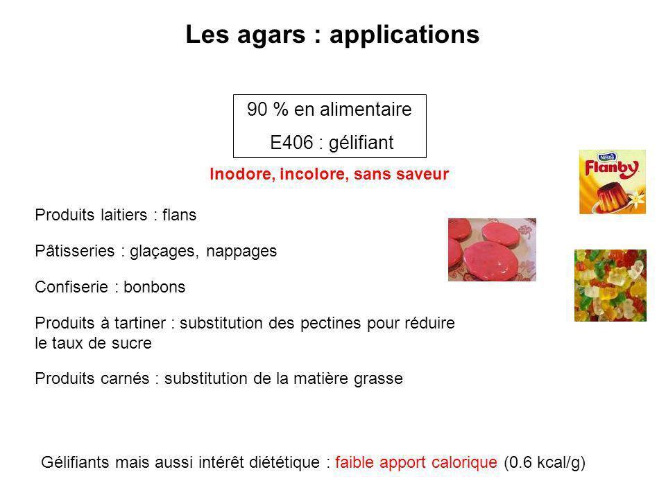 Les agars : applications