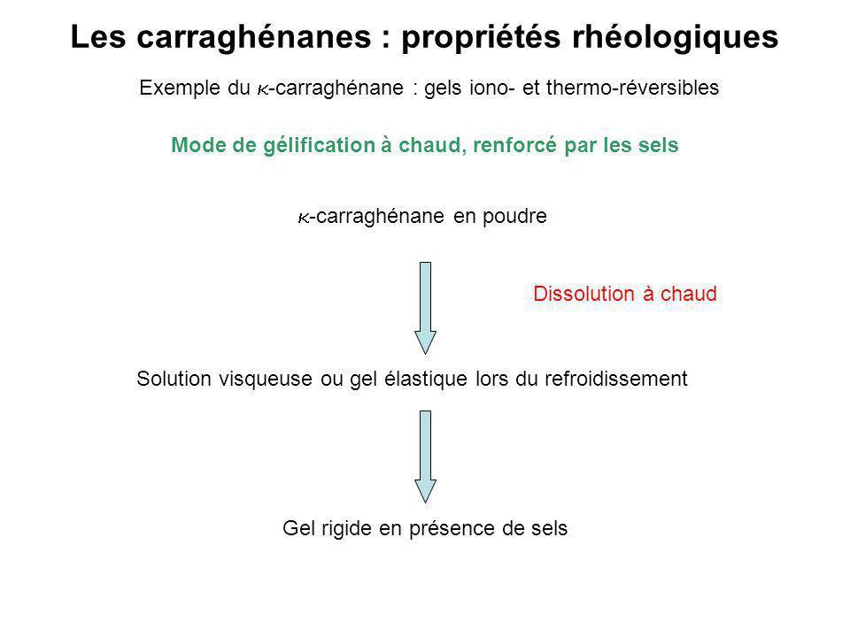 Les carraghénanes : propriétés rhéologiques